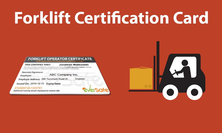 Forklift Certification Card