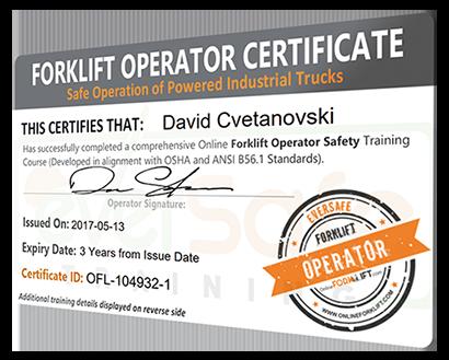 Online Forklift Certification Training