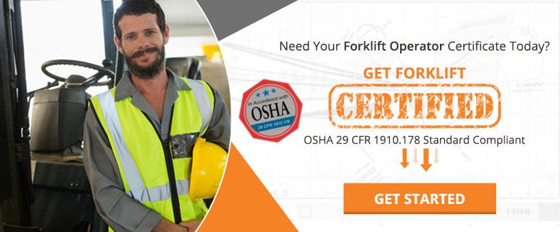 Get Forklift Certified