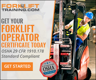 Get Your Forklift Certificate Today